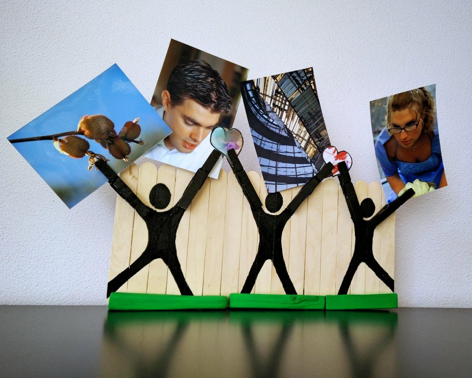 Knutselen met ijsstokjes fotohouder duurzaam houten for Huis duurzaam maken
