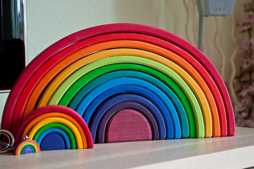 De Regenboog Is Favoriet Zeker De Houten Regenboog
