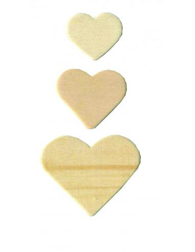 Houten knutselvormpjes hartje