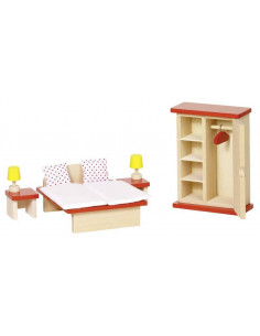 Poppenhuis slaapkamer set