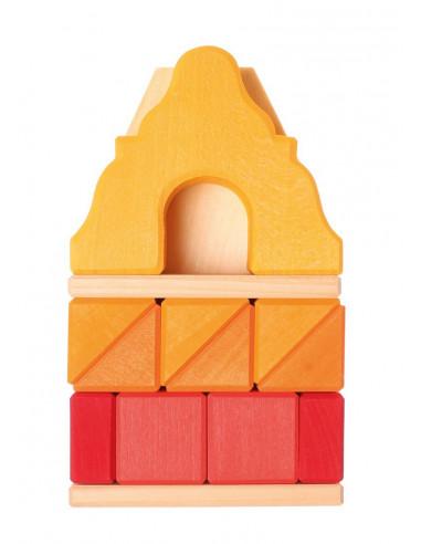 Grachtenpand geel klein blokken