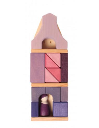 Grachtenpand blokkenset paars