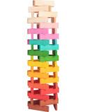 Houten plankjes regenboog