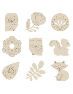 Houten mini figuurtjes natuur