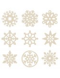 Houten mini figuurtjes sneeuwvlok