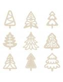Houten mini figuurtjes kerstboom