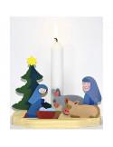 Kerststal kaarsenhouder