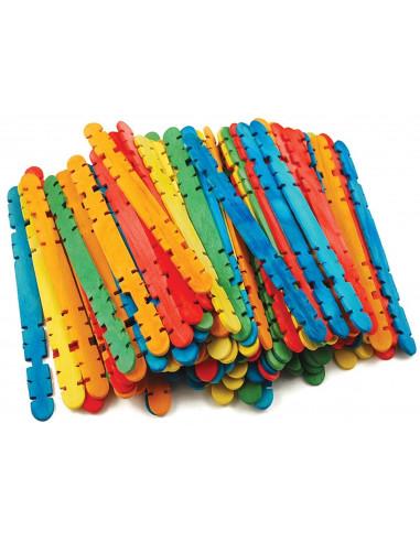 IJsstokjes voor bouwen gekleurd