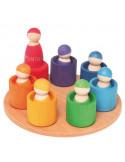 Regenboog vriendjes op schaal