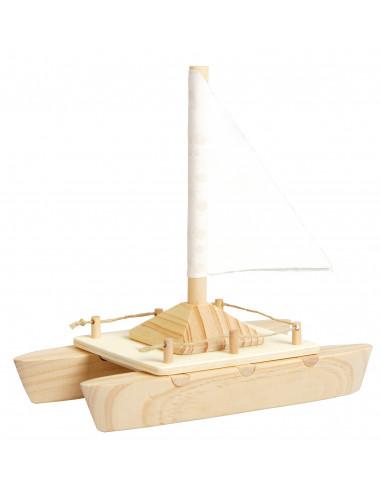 Grote Houten Boot.Houten Zeilboot Bouwpakket Houtspel Duurzaam Houten Speelgoed
