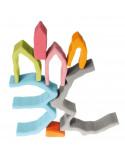 Houten grot pastel