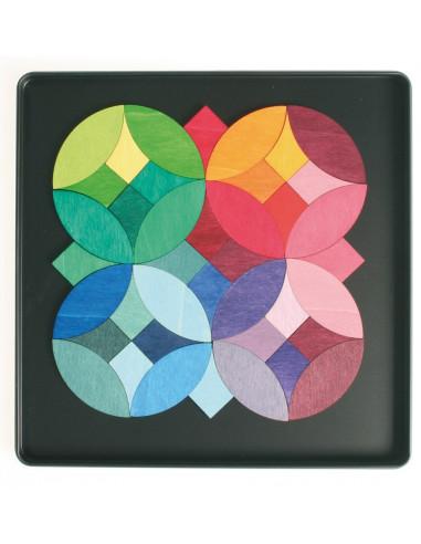 Magneetmozaiek grafische cirkels