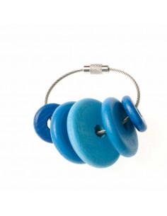 Sleutelhanger blauwe kralen