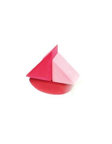 Stapelbaar zeilbootje rood