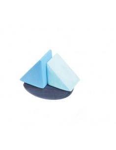 Stapelbaar zeilbootje blauw