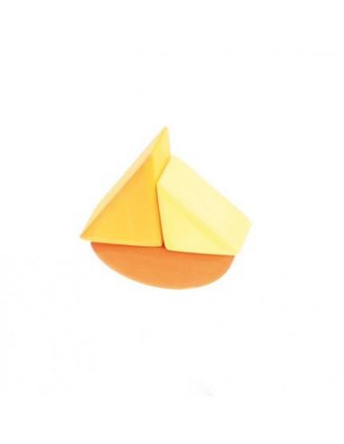 Stapelbaar zeilbootje geel