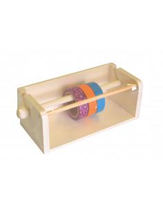 Houten masking tape houder