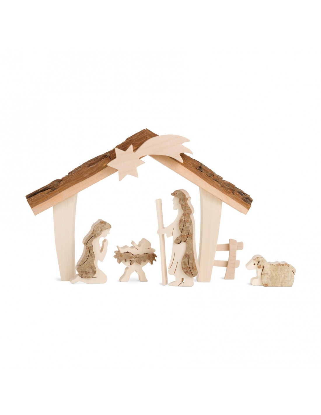 Kerststal hout houtspel duurzaam houten speelgoed for Huis duurzaam maken