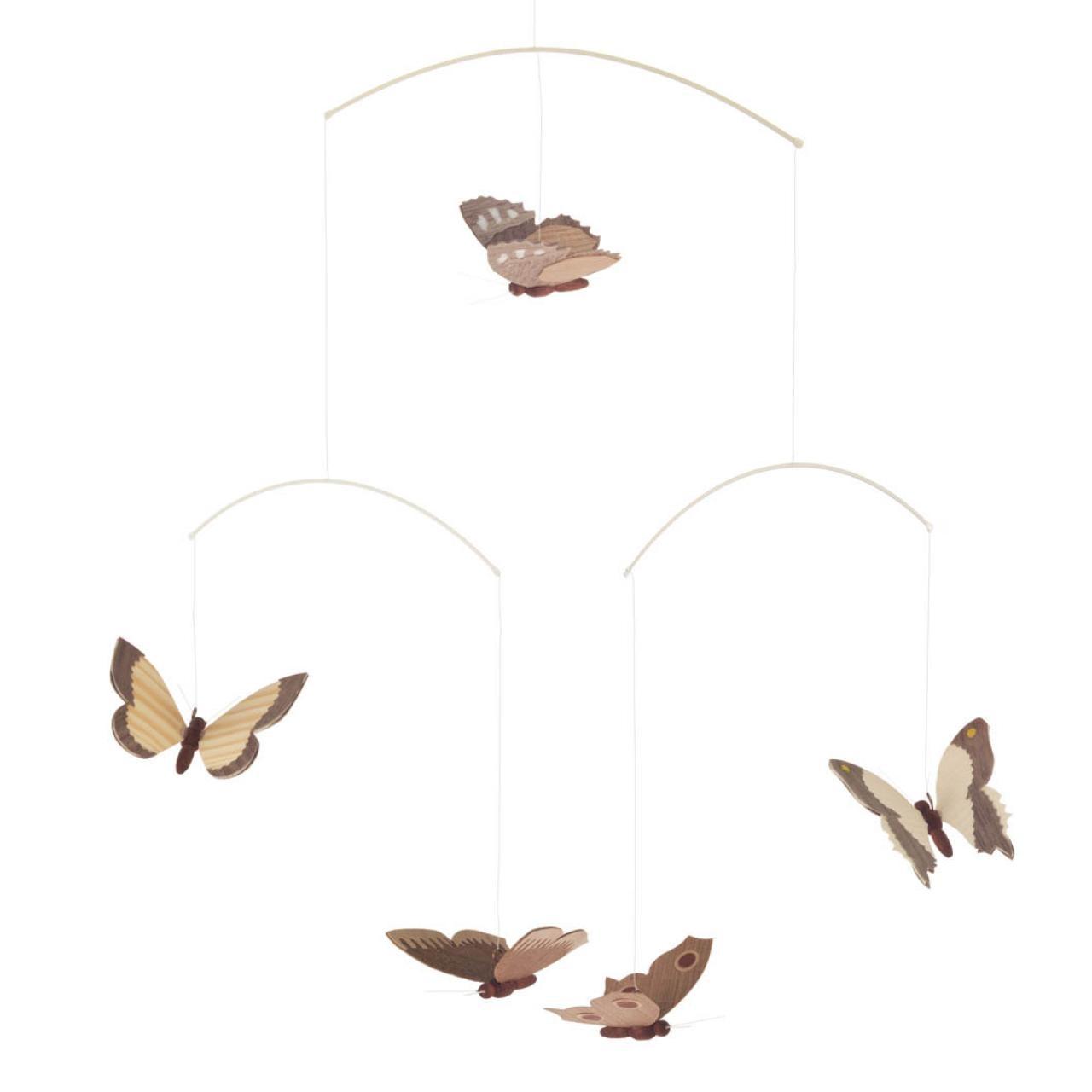 Vlinder Mobiel Houtspel Duurzaam Houten Speelgoed