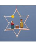 Kerststal hanger ster