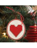 Kerstbal hout hart