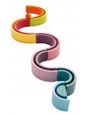 Houten regenboog pastel