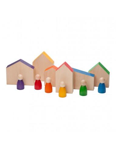 Nins set huisjes