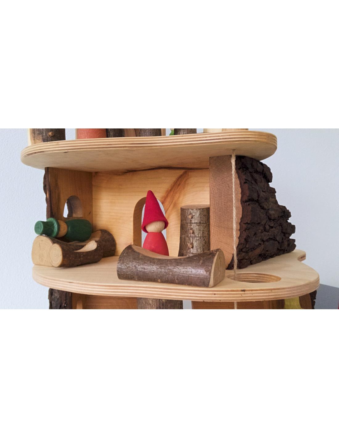 Poppenhuis waldorf duurzaam houten speelgoed for Poppenhuis poppetjes