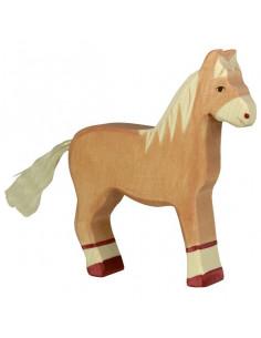 Bruin paard Holztiger