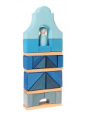 Blokkenset grachtenpand blauw