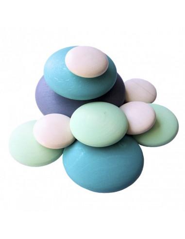 Houten stenen blauw