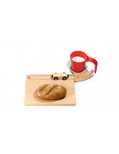 Treinbaan ontbijtset