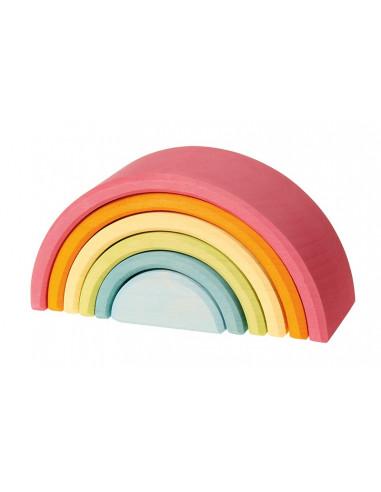 Regenboog pastel middel