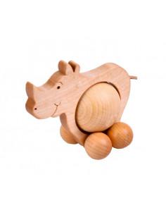 Rollende neushoorn