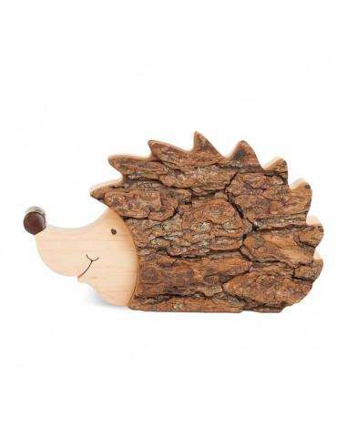 Egel met boombast liggend