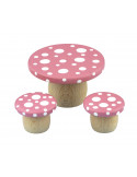 Droomtafeltje met krukjes roze