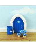 Droomtafeltje met krukjes blauw
