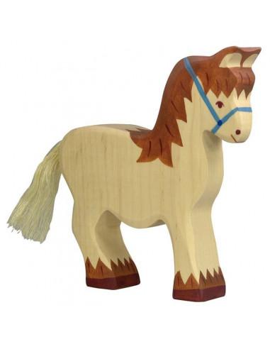 Paard met halster Holztiger