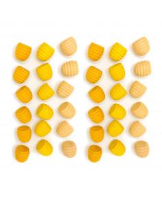 Mandala - Gele bijenkorfjes