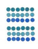Blauwe muntjes