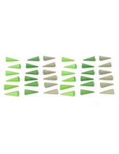 Mandala - Groene kegeltjes