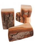 Natuurlijke houtblokken