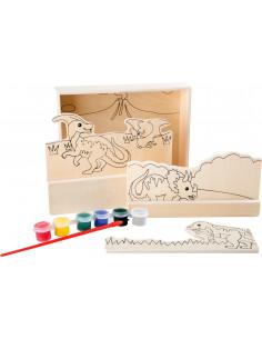 Dinosaurus schilderij 3D