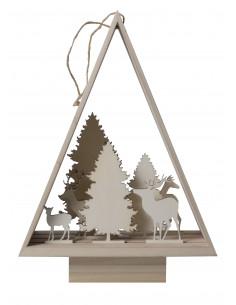 3D kerstboom silhouet