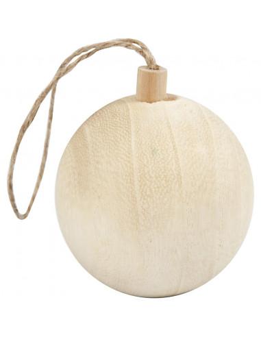 Houten kerstbal