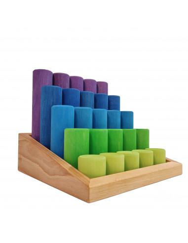 Bouwblokken rond trap