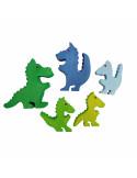 Draken set blauw