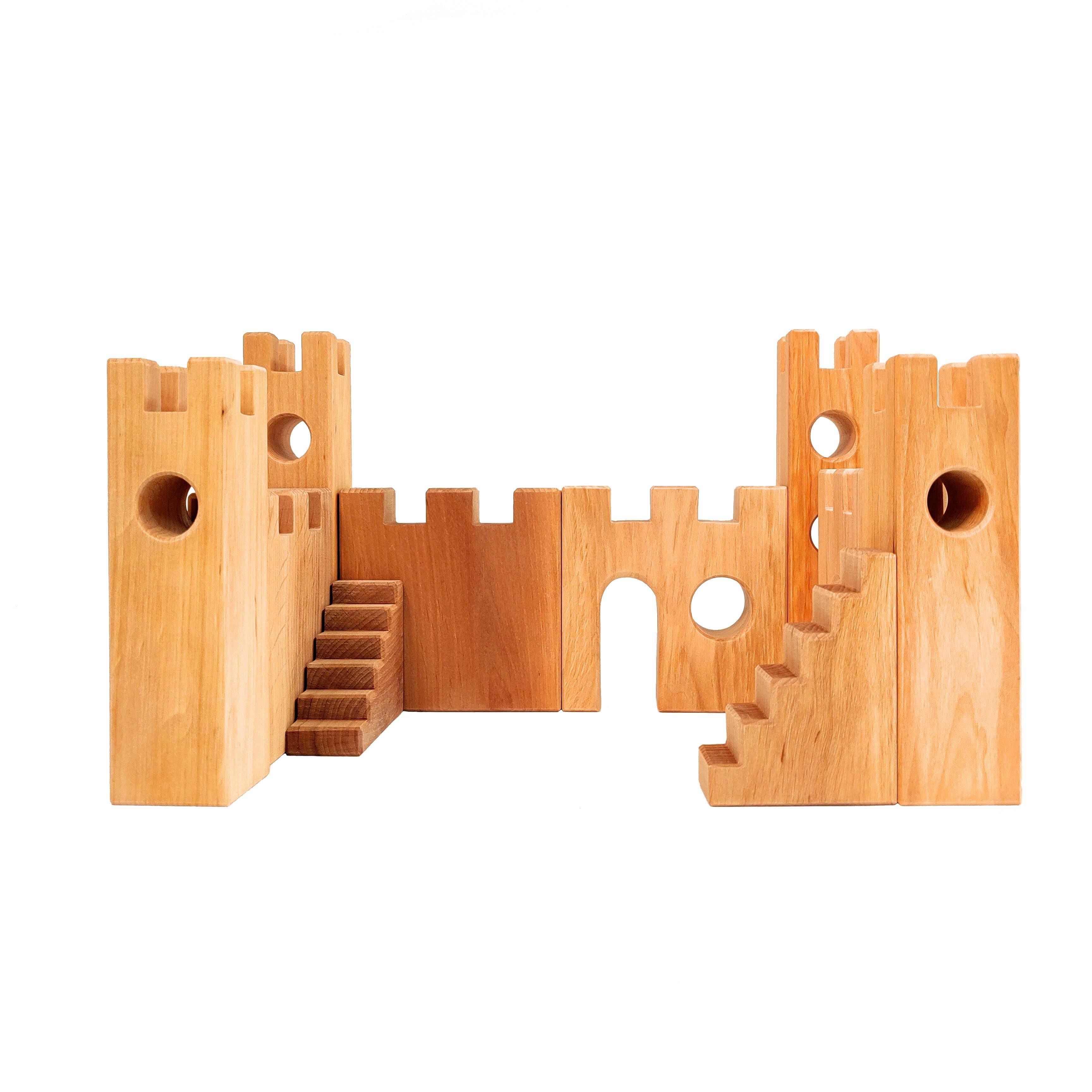 Kasteel blokken uitbreiding set van Bauspiel Duurzaam