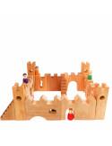 Houten kasteel blokken met uitbreiding