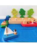 Houten boten set